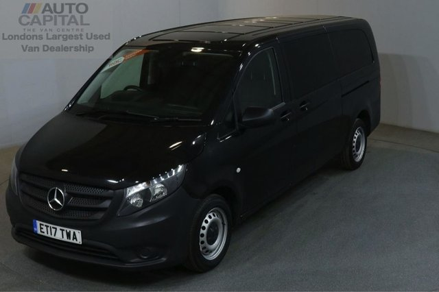 2017 17 MERCEDES-BENZ VITO 2.1 114 BLUETEC TOURER PRO EXTRA LWB AIR CON 136 BHP EURO 6 9 SEATER £20,250+ VAT EURO 6 ENGINE