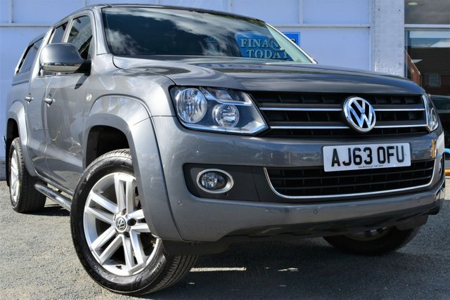2013 63 VOLKSWAGEN AMAROK 2.0 DC TDI HIGHLINE 4MOTION 4x4 AUTO 5 Seat Double Cab Pickup with Towbar Canopy Load Liner