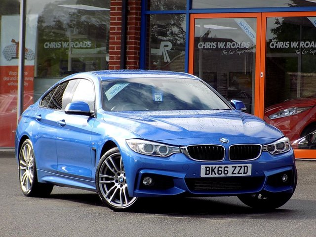 "USED 2016 66 BMW 4 SERIES 2.0 420D M SPORT GRAN COUPE AUTO (190) * Pro Nav + Leather + 19"" Alloys *"
