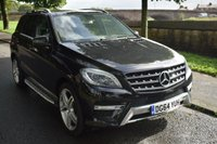 USED 2014 64 MERCEDES-BENZ M CLASS 3.0 ML350 BLUETEC AMG LINE PREMIUM 5d AUTO 258 BHP SERVICE HISTORY, PAN ROOF, SAT NAV, HEATED SEATS, REVERSE CAMERA, REAR PRIVACY GLASS