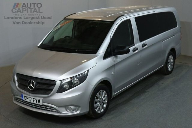2017 17 MERCEDES-BENZ VITO 2.1 114 BLUETEC TOURER SELECT 136 BHP EXTRA LWB EURO 6 AIR CON 9 SEATER MINIBUS £22,990+VAT EURO 6 ENGINE