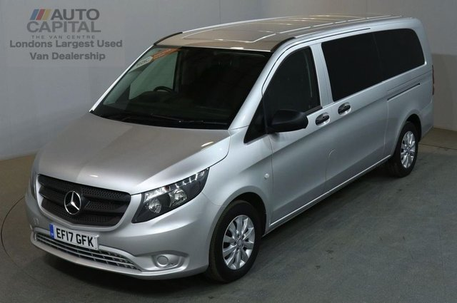 2017 17 MERCEDES-BENZ VITO 2.1 114 BLUETEC TOURER SELECT EXTRA LWB 136 BHP EURO 6 AIR CON 9 SEATER £22,490+VAT EURO 6 ENGINE