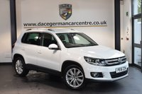 USED 2016 16 VOLKSWAGEN TIGUAN 2.0 MATCH EDITION TDI BMT 5DR 148 BHP + GREY CLOTH UPHOLSTERY + SATELLITE NAVIGATION + BLUETOOTH + AUXILIARY PORT + PARKING SENSORS + DAB RADIO + HEATED MIRRORS + 17 INCH ALLOY WHEELS +