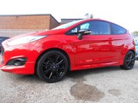 2015 FORD FIESTA 1.0 ZETEC S RED EDITION 3d 139 BHP £8495.00