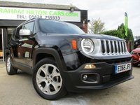 2015 JEEP RENEGADE 1.4 LIMITED 5d AUTO 138 BHP £14500.00