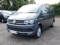 USED 2018 18 VOLKSWAGEN TRANSPORTER T30 TDI HIGHLINE LWB 150 BLUEMOTION EURO 6 Glazed Tailgate, Heated Rear Window and Wash Wipe. Captain Seats, Power Latch Side Door, Sat Nav (Discovery Media Unit).