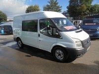 2010 FORD TRANSIT SIX SEAT CREW VAN MEDIUM WHEEL BASE 280  MODEL 115 BHP TURBO DIESEL WITH AIR CON  !!! NO VAT !!!  £4995.00