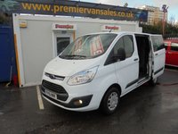 2015 FORD TRANSIT CUSTOM 2.2 270 TREND CUSTOM  DOUBLE CAB SIX SEATS  ONE OWNER FROM NEW  LEATHER MULTI FUNCTION STEERING WHEEL   BLUE TOOTH  FULL YEARS MOT   £9500.00