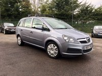 2007 VAUXHALL ZAFIRA 1.6 LIFE 16V 5d  WITH 7 SEATS, PART EXCHANGE TO CLEAR  £2250.00