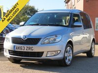 USED 2014 63 SKODA ROOMSTER 1.6 SE TDI CR 5d 103 BHP PANORAMIC ROOF + 3 MONTHS AA WARRANTY INCLUDED