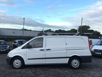 USED 2012 62 MERCEDES-BENZ VITO 2.1 113 CDI LONG LWB LWB, ONE OWNER FROM NEW, POWER INVERTER, TIDY VAN