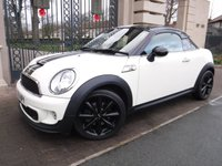 USED 2011 61 MINI COUPE 1.6 COOPER S 2d AUTO 181 BHP *** FINANCE & PART EXCHANGE WELCOME *** AUTOMATIC & PADDLE SHIFT FULL BLACK LEATHER AIR/CON CRUISE CONTROL PARKING SENSORS