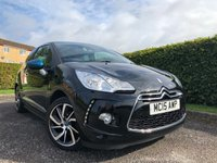 USED 2015 15 DS DS 3 1.2 PURETECH DSTYLE S/S 3d TWO TONE BLUE AND BLACK COLOUR SCHEME WITH CHROME FEATURES