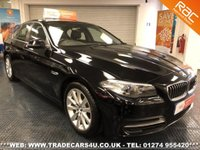 USED 2014 14 BMW 5-SERIES 520D SE 4 DOOR 6 SPEED MANUAL UK DELIVERY* RAC APPROVED* FINANCE ARRANGED* PART EX