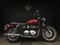 2008 TRIUMPH BONNEVILLE ONLY 110 MILES. SERVICED. DRY STORED. SPOKED WHEELS £5199.00