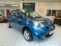 USED 2015 15 NISSAN MICRA 1.2 VISIA 5d 79 BHP LOW ROAD TAX + VERY LOW MILEAGE + GREAT MPG + BLUETOOTH + RADIO/CD PLAYER + ELECTRIC WINDOWS + FULL SERVICE HISTORY