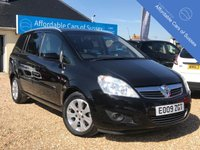USED 2009 09 VAUXHALL ZAFIRA 1.6 BREEZE PLUS 5d 105 BHP Low Mileage Petrol 7 Seater with 1 owner