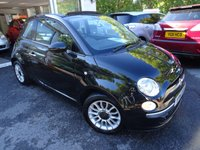 USED 2014 14 FIAT 500 0.9 TWINAIR CONVERTIBLE LOUNGE 3d 85 BHP Low Mileage, Fiat Service History + Serviced by ourselves, One Previous Owner, Minimum 8 months MOT, Convertible, Excellent fuel economy! ZERO Road Tax!