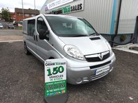 2014 VAUXHALL VIVARO 2.0 2900 CDTI 115 BHP  FACTORY CREW VAN WITH FULL SERVICE HISTORY CHOICE £10995.00