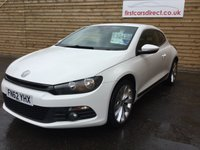 2012 VOLKSWAGEN SCIROCCO 2.0 TDI BLUEMOTION TECHNOLOGY DSG 2d AUTO FULL LEATHER  £10499.00