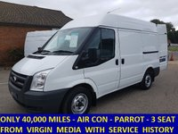 2011 FORD TRANSIT 280 SWB MEDIUM ROOF WITH AIR-CON FROM VIRGIN MEDIA £6995.00