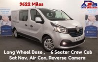 USED 2017 17 RENAULT TRAFIC 1.6 SPORT NAV DCI CREW CAB (6 SEATS) 120 BHP, 9622 Miles, Sat Nav, Air Con, Reversing Camera & sensors, Bluetooth, Lots more spec. **Drive Away Today** Over The Phone Low Rate Finance Available, Just Call us on 01709 866668