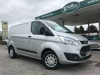 USED 2016 66 FORD TRANSIT CUSTOM 2.2 270 TREND LR P/V 1d 125 BHP One Owner, Low Mileage, Finance In 60 Seconds.