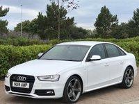 2014 AUDI A4 3.0 S4 QUATTRO BLACK EDITION 4d AUTO 329 BHP £22995.00