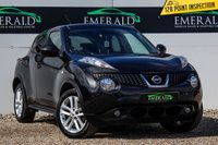 USED 2013 13 NISSAN JUKE 1.6 ACENTA PREMIUM 5d 117 BHP £0 DEPOSIT FINANCE AVAILABLE, AIR CONDITIONING, AUX/CD/RADIO, BLUETOOTH CONNECTIVITY, CLIMATE CONTROL, CRUISE CONTROL, REVERSE CAMERA, SATELLITE NAVIGATION, STEERING WHEEL CONTROLS, TRIP COMPUTER