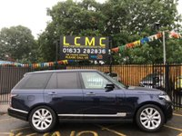USED 2014 64 LAND ROVER RANGE ROVER 3.0 TDV6 VOGUE SE 5d AUTO 258 BHP 2 OWNERS, LAND ROVER, SERVICE HISTORY, STUNNING LOIRE BLUE METALLIC PAINT WORK, 20 INCH ALLOY WHEELS, WALNUT WOOD TRIM, REAR CAMERA, SAT NAV, HEATED SEATS, ETC, CREAM LEATHER INTERIOR, MEMORY PACK