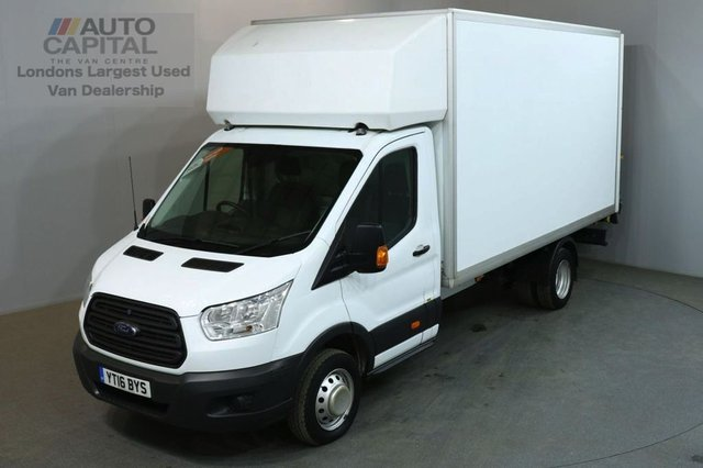 2016 16 FORD TRANSIT 2.2 350 124 BHP L4 EXTRA LWB TAIL LIFT FITTED LUTON VAN ONE OWNER FROM NEW/LOW MILEAGE