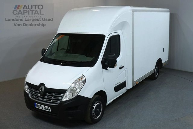 2015 65 RENAULT MASTER 2.3 LL35 BUSINESS DCI LUTON 125 BHP LWB LOW LOADER VAN ONE OWNER FULL SERVICE HISTORY