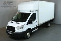 USED 2015 65 FORD TRANSIT 2.2 350 124 BHP L4 EXTRA LWB TAIL LIFT FITTED LUTON VAN LOW MILEAGE TWIN WHEEL