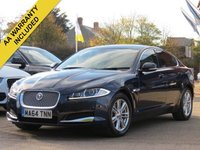USED 2014 64 JAGUAR XF 2.2 D LUXURY 4d AUTO 163 BHP SATELLITE NAVIGATION, REVERSING CAMERA + FULL JAGUAR SERVICE HISTORY