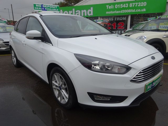 USED 2016 16 FORD FOCUS 1.0 ZETEC 5d 100 BHP JUST ARRIVED...CALL 01543 877320....1 PRIVATE OWNED CAR FROM NEW