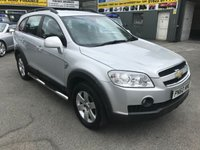 USED 2010 60 CHEVROLET CAPTIVA 2.0 LT VCDI 5DOOR 148 BHP IN SILVER WITH 61000 MILES AND 7 SEATS. APPROVED CARS ARE PLEASED TO OFFER THIS CHEVROLET CAPTIVA 2.0 LT VCDI 5DOOR 148 BHP IN SILVER WITH 61000 MILES AND A FULL SERVICE HISTORY WITH 8 SERVICE STAMPS IN THE SERVICE BOOK IN GREAT CONDITION WITH SEVEN SEATS,CRUISE CONTROL,REAR PARKING SENSORS AND LOTS MORE AN IDEAL FAMILY 7 SEATER MPV AT A VERY SENSIBLE COST.
