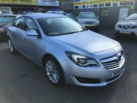 USED 2014 64 VAUXHALL INSIGNIA 1.8 DESIGN 5 DOOR 138 BHP IN LIGHT METALLIC BLUE WITH ONLY 46000 MILES APPROVED CARS ARE PLEASED TO OFFER THIS VAUXHALL INSIGNIA 1.8 DESIGN 5 DOOR 138 BHP IN LIGHT METALLIC BLUE WITH ONLY 46000 MILES IN THE BEST COLOUR A LIGHT METALLIC BLUE WITH A GREAT HISTORY A TRULY STUNNING LOOKING FAMILY CAR.