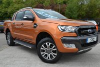 USED 2016 66 FORD RANGER 3.2 WILDTRAK 4X4 DCB TDCI 5d 197 BHP SAT NAV ~ REVERSE CAMERA ~ HEATED WILDTRAK LEATHER
