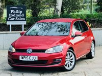 USED 2015 15 VOLKSWAGEN GOLF 2.0 GT TDI BLUEMOTION TECHNOLOGY 3d 148 BHP Full VW service history, Front / Rear parking sensors