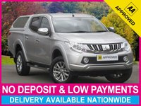 USED 2016 65 MITSUBISHI L200 2.4 DI-D WARRIOR DOUBLE CAB HARDTOP CANOPY SAT NAV  SAT NAV LEATHER REV CAM CANOPY BLUETOOTH CRUISE
