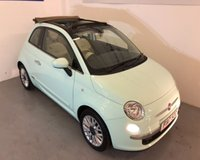 USED 2014 14 FIAT 500 C LOUNGE Only 25,000miles from -Mint green with beige fully electric folding Convertible roof -£30 Road tax,air conditioning,blue tooth,alloy wheels -fab ! Please ring to view by appointment -0191 2581948