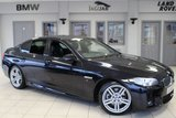 USED 2015 64 BMW 5 SERIES 2.0 520D M SPORT 4d 188 BHP FULL BLACK LEATHER INTERIOR + FULL BMW SERVICE HISTORY + £30 ROAD TAX + SATELLITE NAVIGATION + HEATED SPORT SEATS + BLUETOOTH + HARMAN/KARDON SPEAKERS + DAB RADIO + PARKING SENSORS + 19 INCH ALLOYS