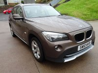 USED 2010 10 BMW X1 2.0 XDRIVE20D SE 5d AUTO 174 BHP 2 PREVIOUS KEEPERS +  NAVIGATION SYSTEM +  BLUETOOTH +  PARKING SENSORS +  MOT AUGUST 2019 (NO ADVISORY ) +