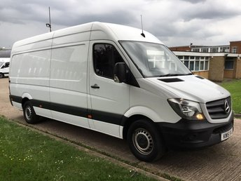 2015 MERCEDES-BENZ SPRINTER 2.1 313CDI LWB HIGH ROOF 130BHP. LOW 38,000 MILES. FSH. 1 OWNER £13990.00