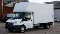 2010 FORD TRANSIT 350 LWB LUTON BODY WITH TAIL LIFT 1 OWNER XMOD 12 MONTHS WARRANTY COVER  £6990.00