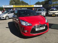 2012 CITROEN DS3 1.6 HDI DSPORT PLUS 3 DOOR110 BHP IN RED WITH A FULL LEATHER INTERIOR. £5299.00