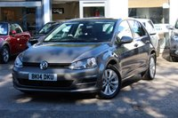 USED 2014 14 VOLKSWAGEN GOLF MK7 1.6 TDI 105ps SE BLUEMOTION TECHNOLOGY 5d 103 BHP £0 ROAD TAX * FSH * FINANCE AVAILABLE * PX WELCOMED *