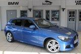 USED 2014 63 BMW 1 SERIES 1.6 116I M SPORT 5d 135 BHP FULL BLACK LEATHER SEATS + FULL BMW SERVICE HISTORY + BLUETOOTH + DAB RADIO + ADAPTIVE CRUISE CONTROL + 18 INCH ALLOYS + REAR PARKING SENSORS