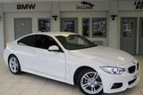 USED 2017 17 BMW 4 SERIES 2.0 418D M SPORT 2d AUTO 148 BHP FULL BLACK LEATHER SEATS + PRO SATELLITE NAVIGATION + REVERSE CAMERA + XENON HEADLIGHTS + £30 ROAD TAX + DAB RADIO + HEATED FRONT SEATS + 18 INCH ALLOYS + CRUISE CONTROL + AUTOMATIC AIR CONDITIONING