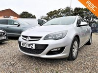 2013 VAUXHALL ASTRA 1.7 EXCLUSIV CDTI ECOFLEX S/S 5d  £SOLD